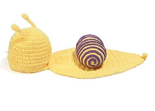 Imagen de aivtalk  ropa disfraz apoyo de fotos fotografía para bebés recién nacidos niños niñas de punto de ganchillo lindo formado de animales  caracol  amarillo 2 alternativa