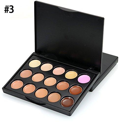 Gesicht Concealer,FRIENDGG MIni 15 Farben einfach zu Gesicht Concealer Camouflage Creme Contour Palette Gesichtsmake-up (C)