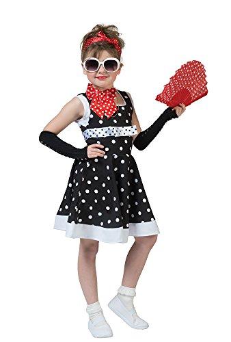 Retro Kostüm Dolly für Mädchen Gr. (60er Der Kostüme Jahre Mädchen)