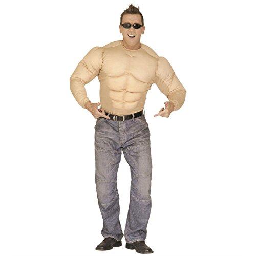 m Bodybuilder Muskelshirt Kostüme Muskelkostüm Muskelshirt Muskelprotz Gr L 50/52 (Muskelprotz Kostüm)
