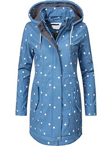 Peak Time Peak Time Damen Softshell Mantel L60013 Blau Dots019 Gr. S