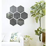 Naveed Arts - Acrylic Hexagon Wall Sticker Decor - 7 Grey Mirror JB042GRM7 Factory Outlet, Bill + Warranty