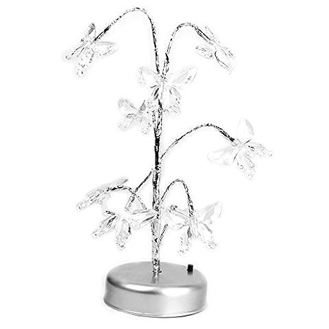 LED Butterfly Bonsai Tree Light Ornament Night Lamp Multi-colored