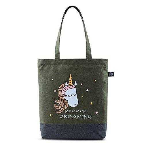 Bwiv Damen Handtasche Canvas Schultertasche Lässige Umhängetasche Große Kapazität Shopper Tasche Schöne Vintage Henkeltasche Beuteltasche J I