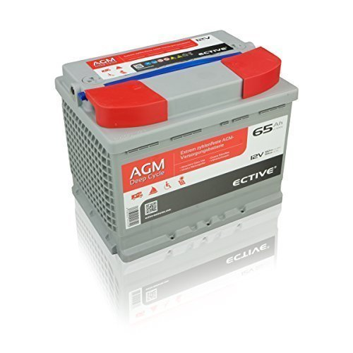 Preisvergleich Produktbild ECTIVE 65Ah 12V AGM Batterie EDC-Serie VRLA Versorgungsbatterie in 7 Varianten: 65Ah - 230 Ah (wartungsfrei)