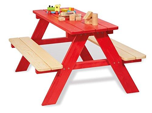 Kinder Picknicktisch Holz Rot