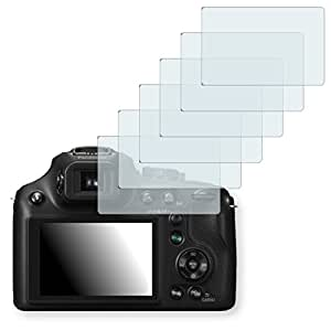 6x Golebo Crystal Clear screen protector for Panasonic Lumix DMC-FZ70 - (Transparent screen protector, Air pocket free application, Easy to remove)