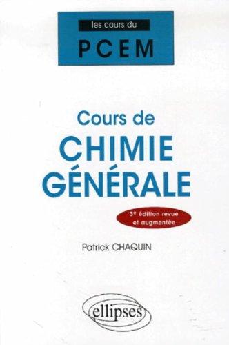 Cours de Chimie Générale