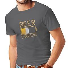 Idea Regalo - lepni.me Maglietta da Uomo Ubriacarsi, Umorismo Bere Abbigliamento, Idee Regalo Divertenti per Gli Amanti della Birra (Large Grafite