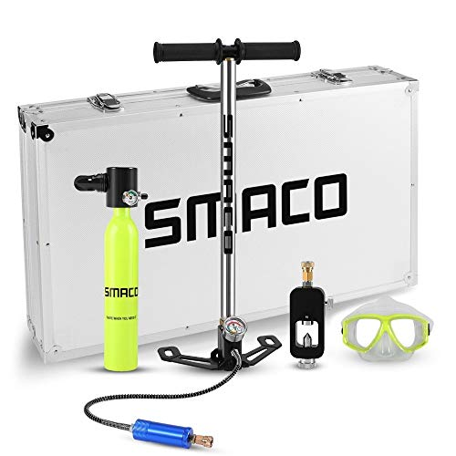 Mini-Mini-Sauerstoffflasche Tauchausrüstung Sauerstofftank Set Mini Scuba Tank Totale Atemfreiheit unter Wasser für 5 bis 10 Minuten (Colore : Mini Scuba) -