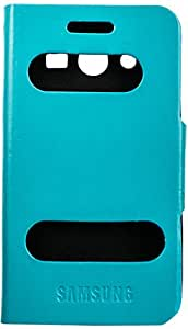 Purple Eyes Caller ID Flip Case Cover For Samsung Galaxy Core 2 G355H (Blue)