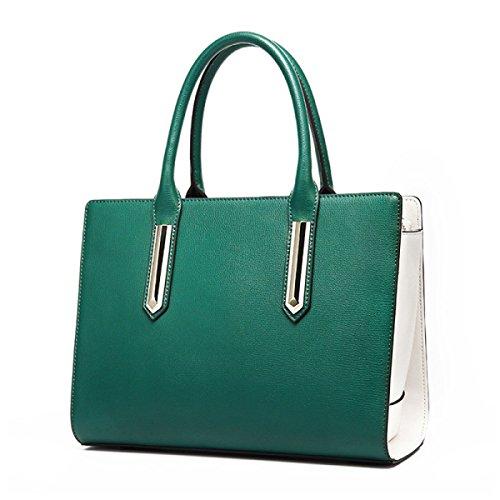 Damen Mode Messenger Bag Einkaufstasche Hit Farbe Schulter ArmyGreen Handtasche Einfache 1PExIx0q