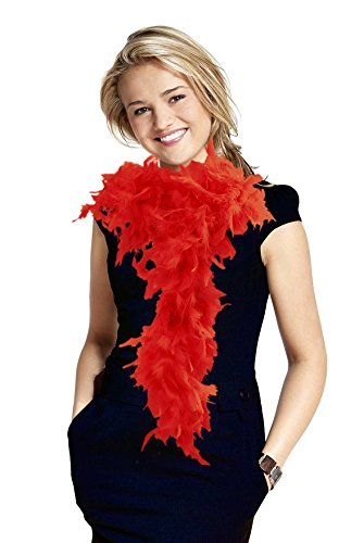 Fun Central AU146 6' Adult Feather Boa (Red) (Boa Red Feather)
