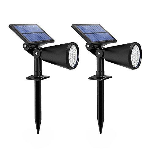 Xintop Solar Gartenleuchte, 2-in-1 upgraded Solar LED Wandleuchte/Gartenleuchte mit einstellbaren Solarpanel, 2 Stufe Beleuchtung für Einfahrt, Hof, Garten, Rasen, Weg usw. 2 Stück