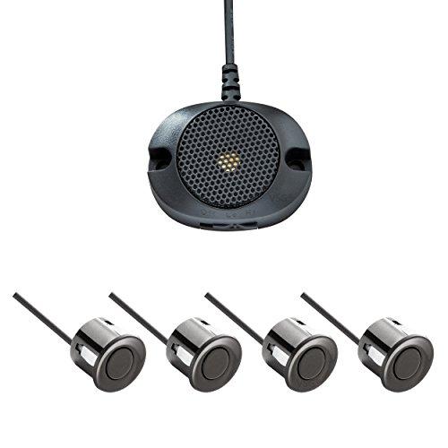 VSG® Einparkhilfe mit einem akustischen Signalgeber und inklusive 4 Sensoren in schwarz für hinten