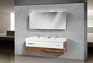 Novelli Badmöbel Set mit 160 cm Doppelwaschtisch: Amazon ...