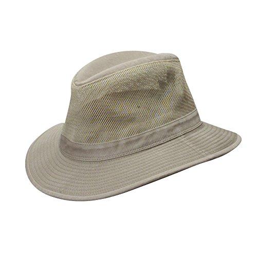 Dorfman Pacific Hats Herren UV Hüte, Khaki, 58 cm, 863M-KAKI3