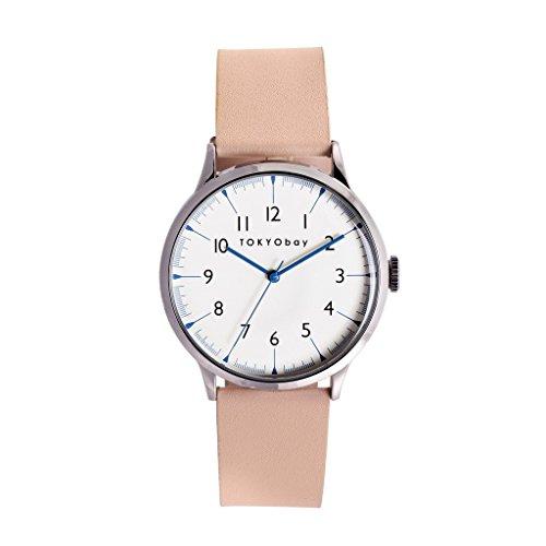 tokyobay-t339-be-mujeres-del-acero-inoxidable-banda-de-cuero-beige-esfera-blanca-reloj-inteligente