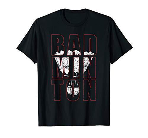 BADMINTON Federball Sport Geschenk Hobby Ball Herren Damen T-Shirt -