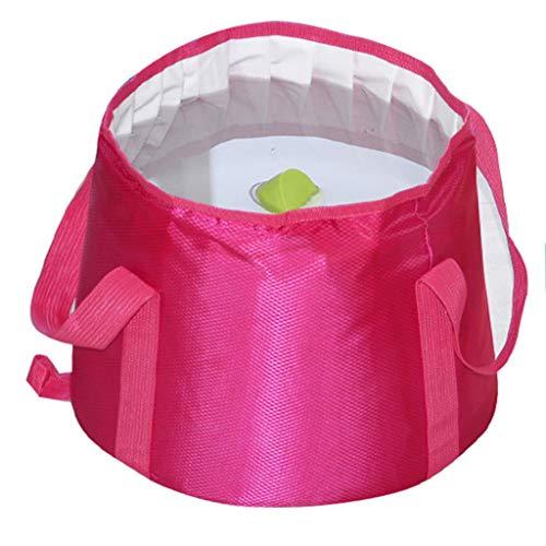 Lavabos de Salle de Bain Pliable lavabo Portable Portable lavabo Voyage Pliant lavabo Camping pêche Sac Pliant Peut être chargé avec de l'eau Chaude (Color : Pink, Size : 32 * 12 cm)