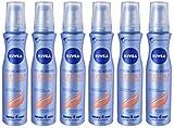 Nivea Styling Mousse Flexible Curls & Care, Schiuma per Capelli, 4 Pezzi da 150 ml