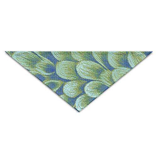 Kostüm Billig Peacock - Green Petal Peacock Feather Turban Triangle Scarf Bib Scarf Accessories Pet Cat and Baby Puppy Saliva Dog Towel