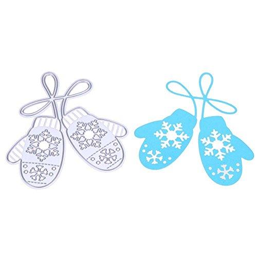 AnySell Schneeflocken-Handschuhe Stanzschablonen Schablonen Scrapbook Prägung DIY Craft Karte (Bogenschießen Diy Handschuh)