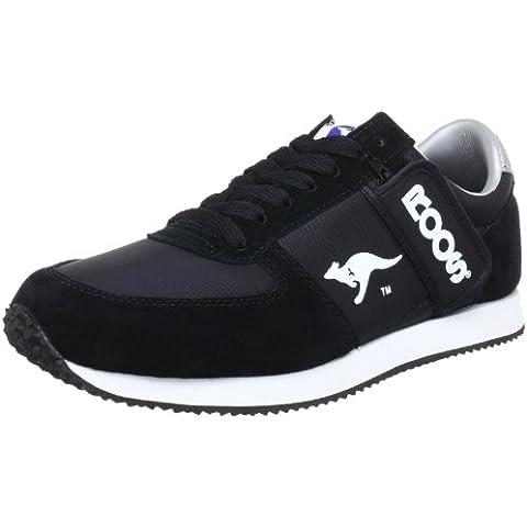 Kangaroos 71490 - Zapatillas de cuero para hombre, color negro, talla Fällt aus Normal