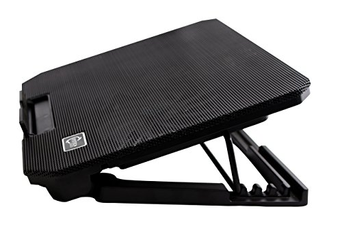 ERGOSTAND Laptop cooling pad for laptops from 10 inch to 15.6 inch SYSTECH strong built small laptop support for hp laptop dell laptop asus laptop toshiba laptop cooler master dual fans strong iron bo