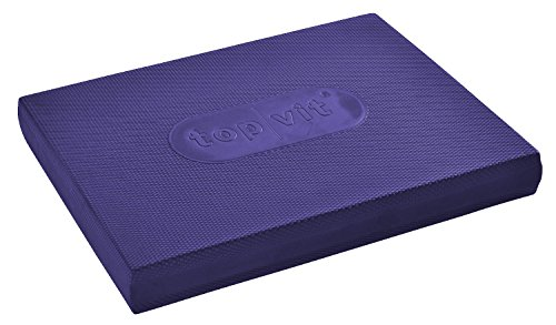 "top|vit Balance-Pad ""balanxe.pad"", Gleichgewichtsmatte, Koordinations-Pad, 50x40x6cm, für Fitness, Prävention, Pilates, Yoga, Physiotherapie, Rehabilitation, Verein und Schule. Ideal für Balance und Koordinationstraining, aubergine"