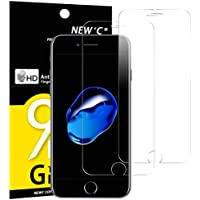 Panzerglas iPhone 7 PLUS, iPhone 8 PLUS, [2 Stück] NEWC® Tempered Glass 9H Härte, Frei von Kratzern Fingabdrücken und Öl, HD Displayschutzfolie, 0.33mm Ultra-klar, panzerglas schutzfolie für iPhone 7 PLUS, iPhone 8 PLUS