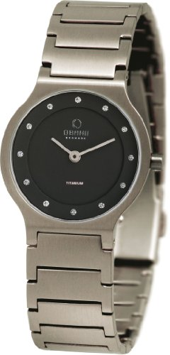 Obaku Denmark Damen-Armbanduhr XS Analog Quarz Titan V133LTBST1