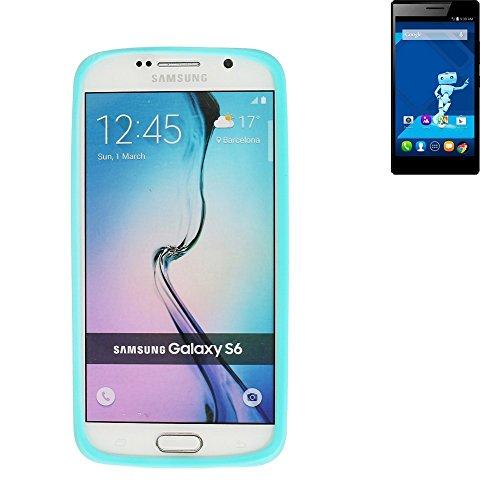 Preisvergleich Produktbild Silikonbumper / Bumper aus TPU für Haier Voyage V5, Türkis / Blau | Schutzrahmen Schutzring für Smartphone Case Hülle Schutzhülle - K-S-Trade (TM)