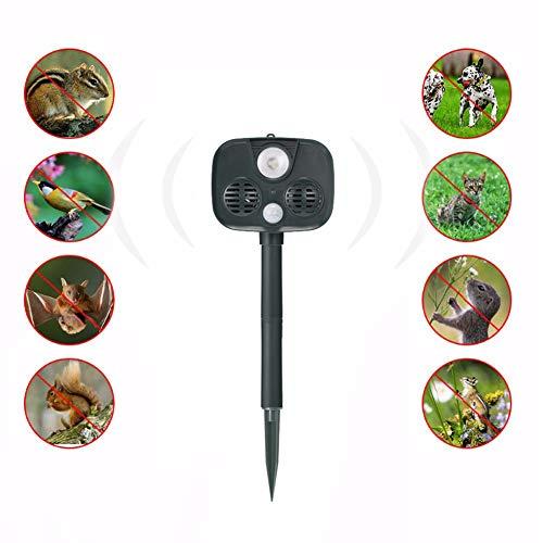 eller, Tier Repeller Wasserdichter PIR Sensor Bird USB Ultraschall Solar Alarm Drive Repeller, Für Den Außenbereich, Garten Und Bauernhof, Etc. ()
