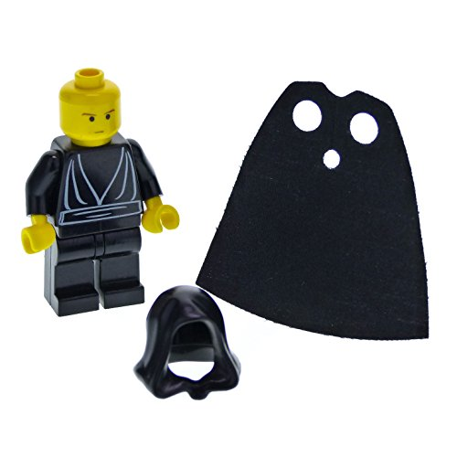 Wars-sets 1 Lego Episode Star (1 x Lego System Figur Star Wars Episode 4/5/6 Luke Skywalker Torso schwarz Jedi Robe Kopf gelb Kapuze Umhang Set 3341 sw044)
