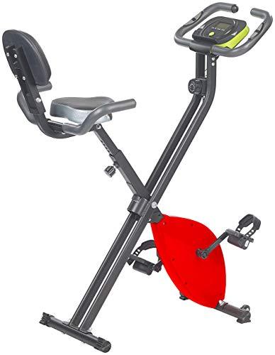 PEARL sports Hometrainer: Klapp-Heimtrainer mit Rückenlehne, Tablet-Halter, 2,5 kg Schwungmasse (Klappbarer Heimtrainer)