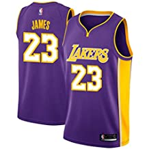 Runvian Jersey de Hombre, NBA Lebron James # 23 LA Lakers Retro Jugador de Baloncesto