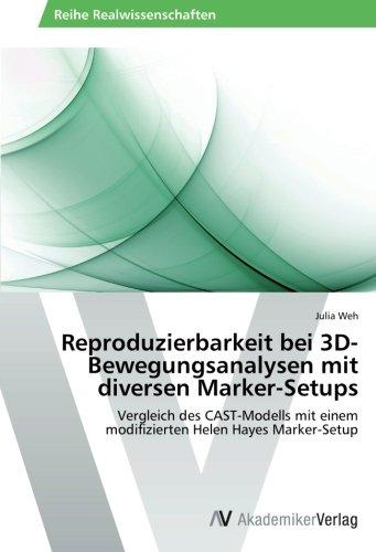 Reproduzierbarkeit bei 3D-Bewegungsanalysen mit diversen Marker-Setups: Vergleich des CAST-Modells mit einem modifizierten Helen Hayes Marker-Setup -