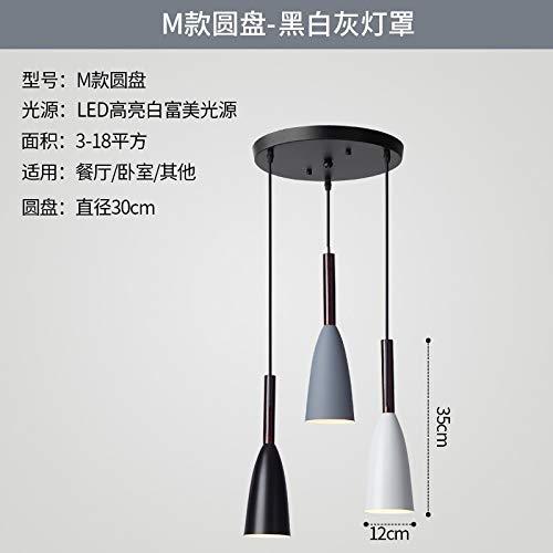 Personalidad mesa comedor balcón bar lámpara de mesa iluminación M sección disco luz blanca