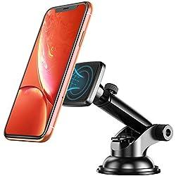 Cocoda Supporto Auto Smartphone Magnetico, Universale Porta Cellulare da Auto per Auto Cruscotto/Parabrezza, con Sticky Ventosa & Braccio Estensibile, 360 ° di Rotazione per Tutti Gli Smartphone