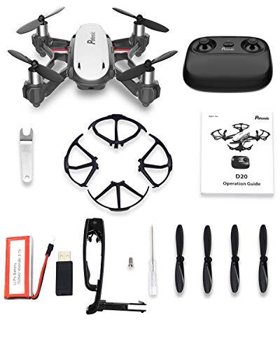 Potensic Drone con Telecamera D20 Drone WiFi Funzione di Sospensione Altitudine Allarme della Scarica e Fuoricampo modalità Senza Testa e HD Adatto per Principianti, Buon Regalo per Bambini - 7