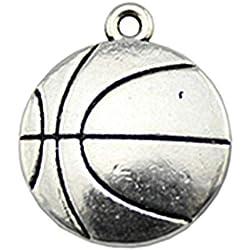 NEWME 12 unids 22x18mm colgantes de baloncesto colgante para la fabricación de joyas de bricolaje Fabricación al por mayor collar de la pulsera hecha a mano llavero bolsa de accesorios