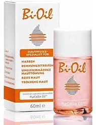 Bi-Oil Hautpflege Spezialist für Narben, Dehnungsstreifen, Ungleichmässige Hauttönung, Reife Haut und trockene Haut Inhalt: 60ml Körperpflegeöl mit PurCellin Oil. Körperpflege für anspruchsvolle Haut.