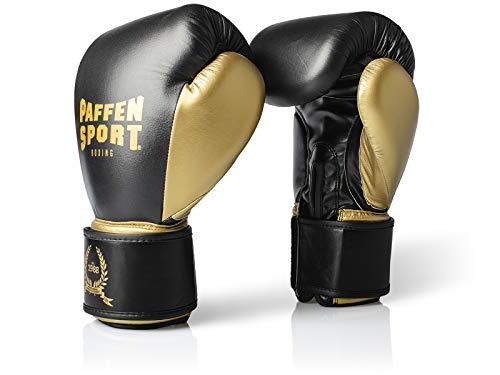 Paffen Sport Anniversary Boxhandschuhe - schwarz/Gold - 12 Unzen (12 Unzen-boxhandschuhe Leder)