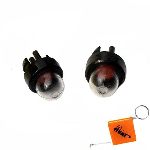 HURI 2x Primer Knopf Vergaser-Pumpe Benzinpumpe für Husqvarna 232 235 323L 334 338 340 345 350 353 450 460 McCulloch MAC-3200 Ryobi Stihl Dolmar