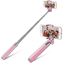 Bluetooth Bastone Selfie Yarrashop allungabile selfie Sticks Bluetooth Remote Shutter Mini selfie bar per iPhone 7 / 6S / 6/6 Inoltre, Samsung S7 / 6/5, 5/5 nota, e tutti gli smartphone Android e iOS