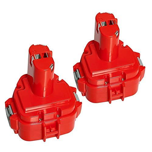 Surepp 2 Stück für Makita Akku 12V 3.0Ah Ni-Mh Werkzeugakku für Makita 1220 1222 PA12 1233S 1234 1233 1235 1235B 1235F 192696-2 192698-8 192698-A 193138-9 193157-5