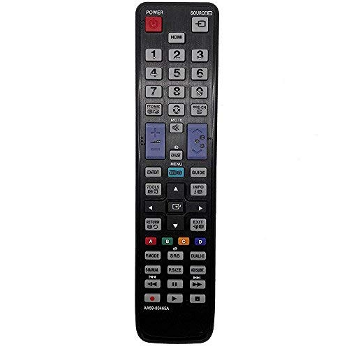 allimity Sostituire il Telecomando AA59-00465A apto para Samsung TV UE32D5000PW UE32D4000NW UE19D4000NW UE22D5000NW UE27D5000NW ME46A ME55A T20A350 T22A350 T22A550 T23A350 T23A550 T24A350