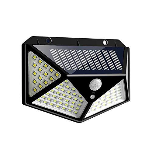 ALICED Outdoor-Solarleuchten, Solarwand-Lampe 100 LED Super Helle DREI Intelligente Beleuchtung Modi Nur 6 Stunden Vollständig Unter Der Sonne Aufladen,1pc