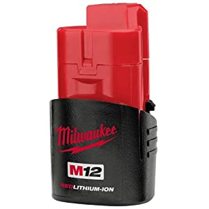 Milwaukee M12B 1.5Ah Lithium-Ion Battery - Red
